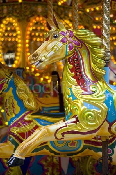 回転木馬 馬 伝統的な 通り ヴィンテージ 公正 ストックフォト © leeavison