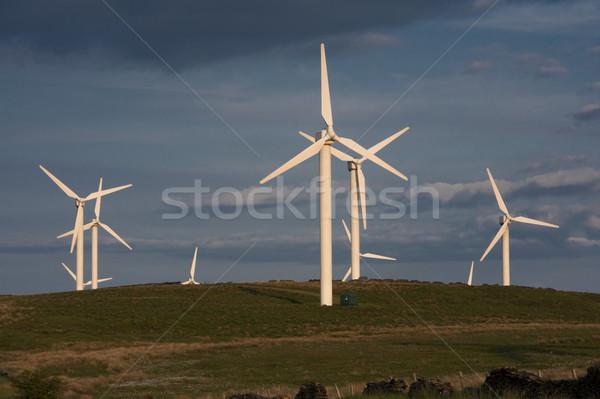 Szén szélfarm Anglia Stock fotó © leeavison