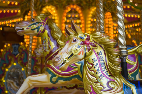 Stock photo: Fairground carousel