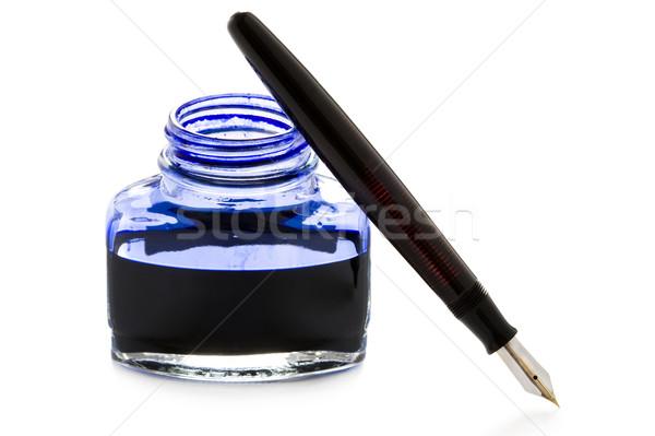 авторучка чернила Vintage открытых бутылку Сток-фото © leeavison
