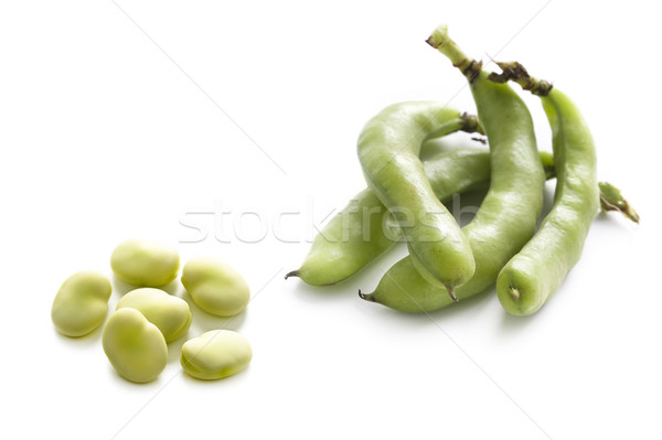 broad beans on white background Stock photo © leeavison