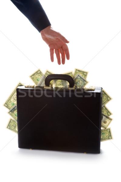 ストックフォト: ビジネスマン · ブリーフケース · フル · お金 · アメリカン · ドル