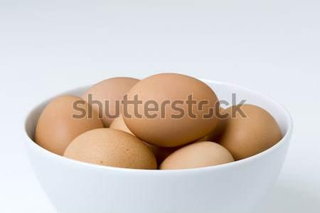 hens eggs in a bowl Stock photo © leeavison
