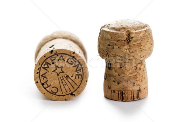 шампанского фон белый студию Сток-фото © leeavison