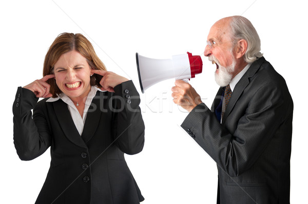 woman being yelled at by manager Stock photo © leeavison