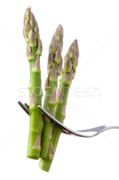 Spárga villa izolált friss fehér saláta Stock fotó © leeavison