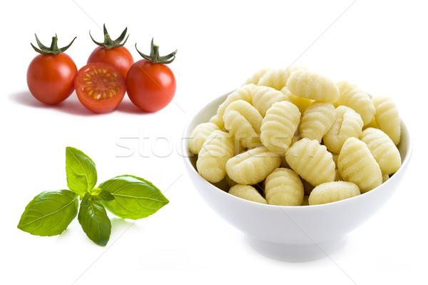 basil, cherry tomatoes and gnocchi  Stock photo © leeavison