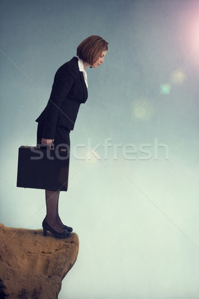 businesswoman on the edge Stock photo © leeavison