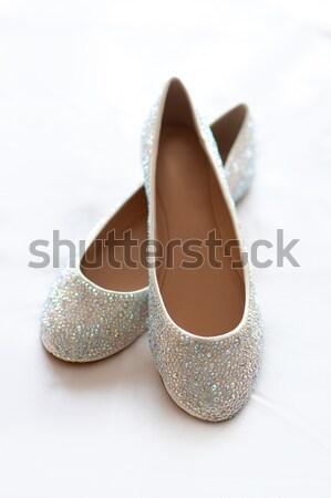 flat wedding shoes with diamante  Stock photo © leeavison