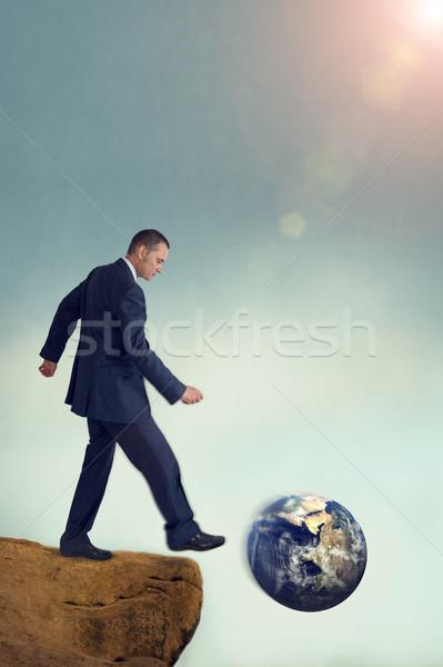 üzlet globális környezeti rombolás bemozdulás klasszikus Stock fotó © leeavison