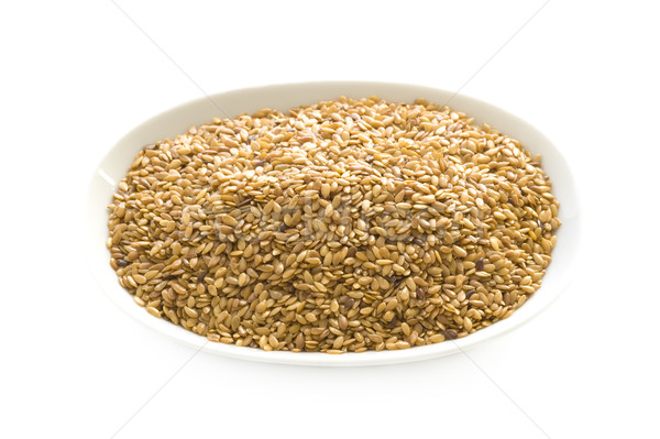 linseed or flaxseed isolated Stock photo © leeavison
