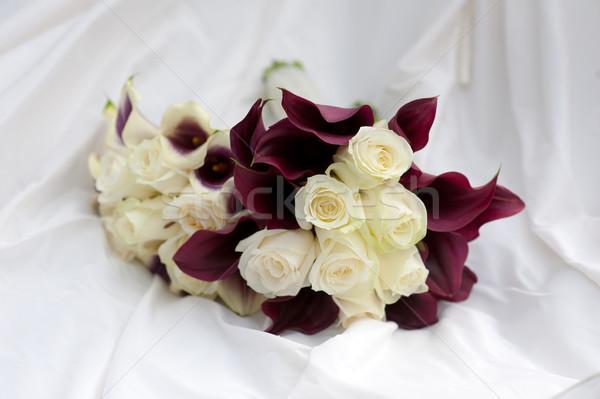 wedding bouquets purple and white colours Stock photo © leeavison