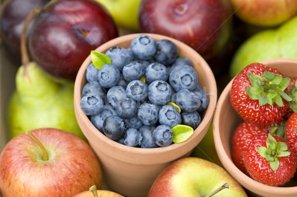 Fruits d'été produire été automne fruits frais bleuets Photo stock © leeavison