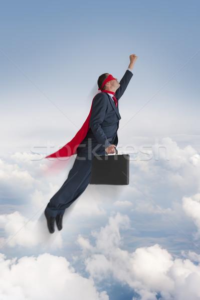 superhero businessman flying upwards  Stock photo © leeavison