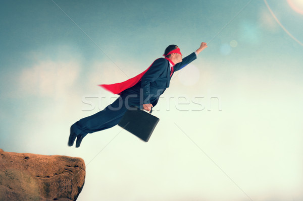 flying superhero businessman Stock photo © leeavison
