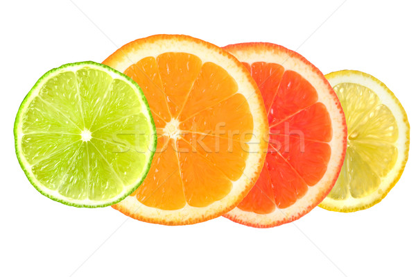 citrus fruit isolated on white Stock photo © leeavison