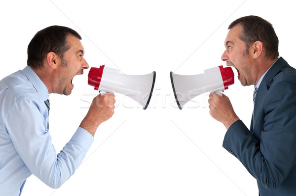 businessman yelling at himself Stock photo © leeavison