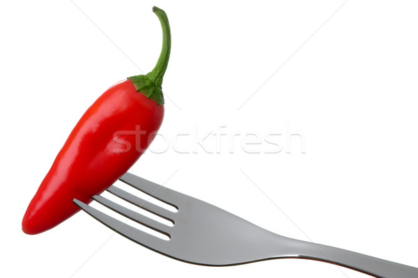 red hot chili pepper on white Stock photo © leeavison