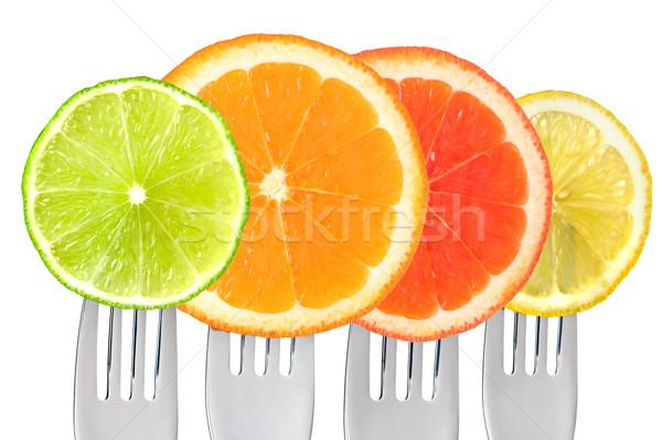 цитрусовые изолированный белый извести оранжевый грейпфрут Сток-фото © leeavison