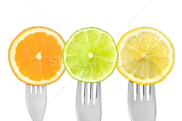 orange lemon lime fruit slices Stock photo © leeavison