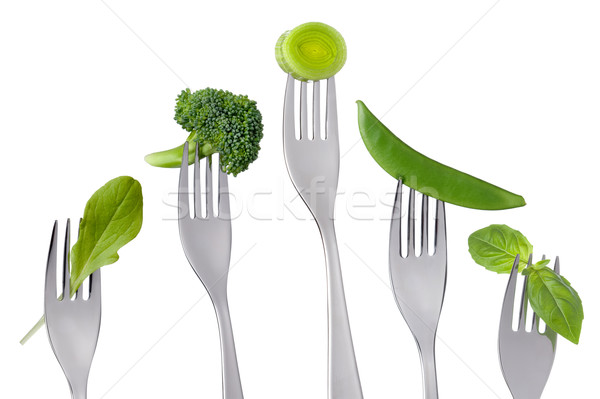 healthy raw green vegetables food on white Stock photo © leeavison