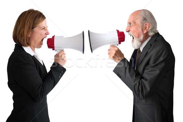 businesswoman and senior manager megaphones Stock photo © leeavison