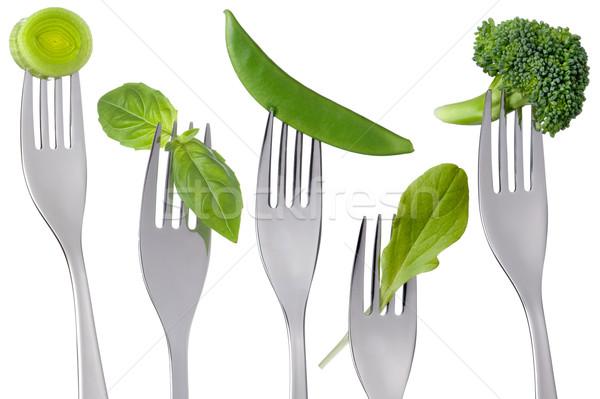 Stok fotoğraf: Sağlıklı · yeşil · gıda · beyaz · yalıtılmış