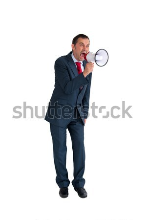 businessman with loudhailer Stock photo © leeavison