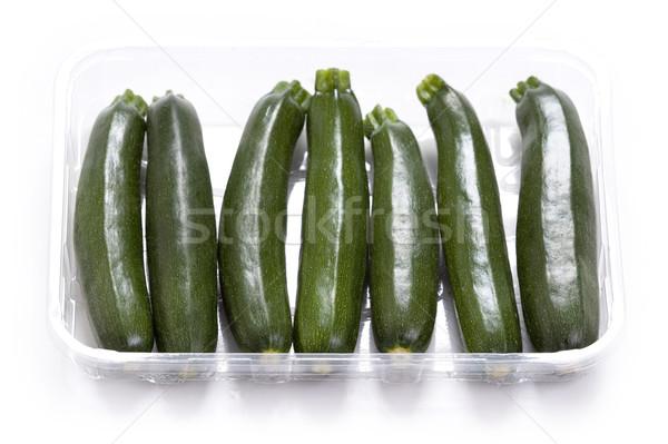 Foto d'archivio: Zucchine · zucchine · bianco · verde · studio · vegetali