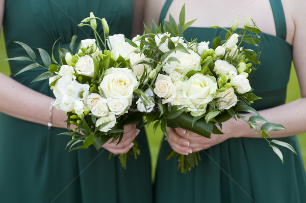 bridesmaids hold flowers  Stock photo © leeavison
