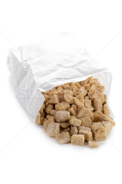 demerara sugar cubes on white Stock photo © leeavison