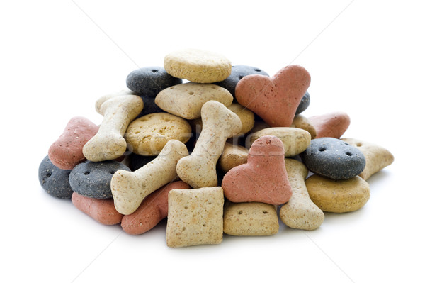 dry dog biscuits isolated Stock photo © leeavison