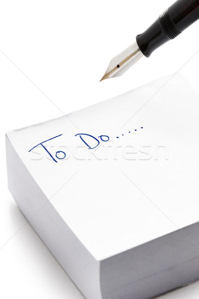 Teendők listája írott post it jegyzet szavak tinta Stock fotó © leeavison