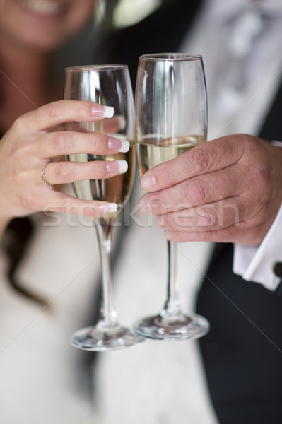 bride and groom champagne toast Stock photo © leeavison