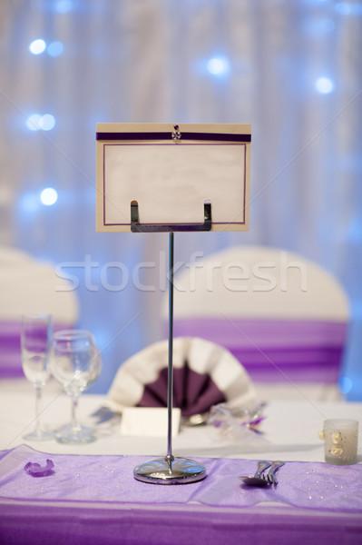 Név esküvő asztal Stock fotó © leeavison