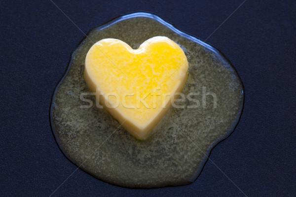 Cholesterol gezond hart voedsel vet gezonde symbool Stockfoto © leeavison