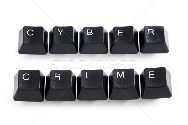 Suç bilgisayar tuşları yazım klavye web Stok fotoğraf © leeavison
