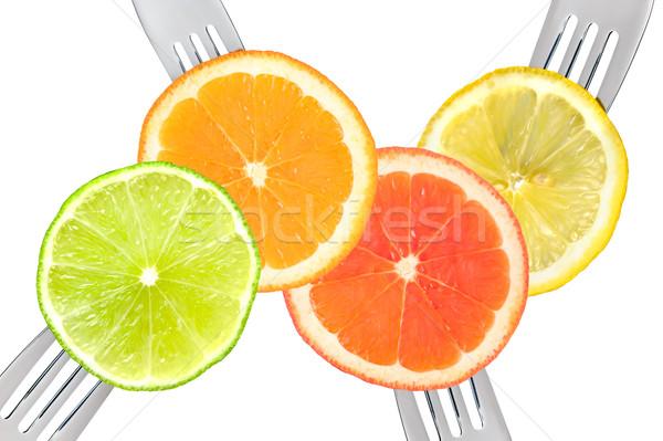 Foto d'archivio: Calce · limone · arancione · pompelmo · agrumi
