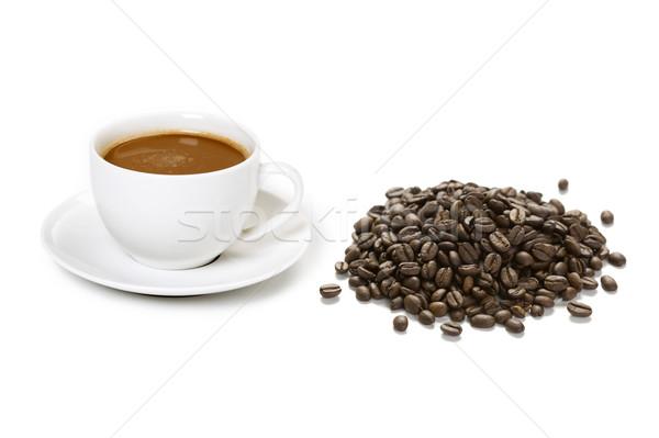 Kávéscsészék kávé kávéscsésze ital kávé fehér Stock fotó © leeavison