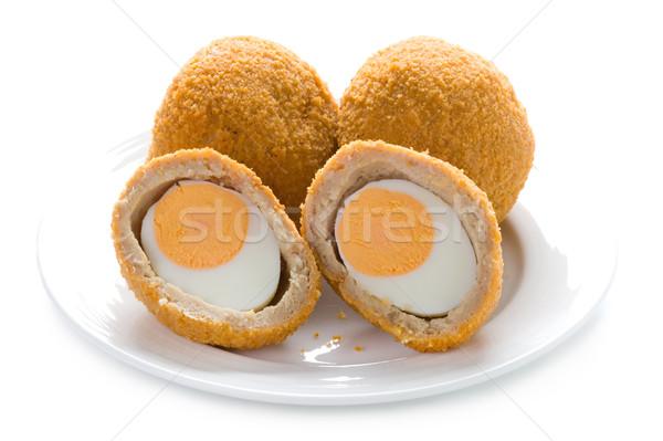 scotch eggs isolated Stock photo © leeavison