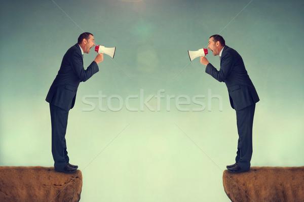businessmen shouting Stock photo © leeavison
