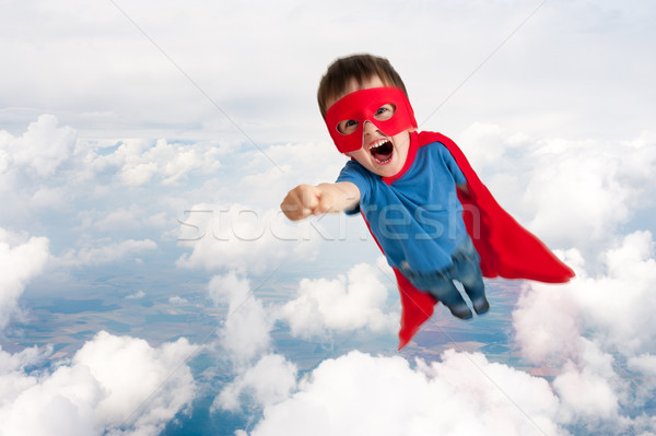 superhero child boy flying Stock photo © leeavison