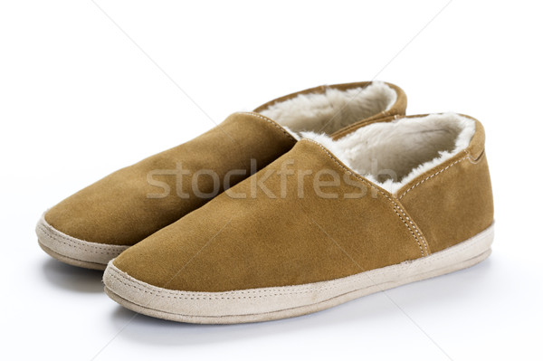 sheepskin slippers Stock photo © leeavison