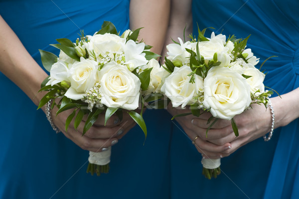 bridesmaids holding wedding bouquets Stock photo © leeavison
