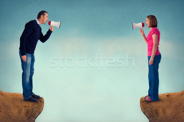 man and woman conflict concept Stock photo © leeavison