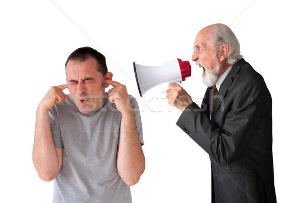 man being yelled at by senior manager Stock photo © leeavison