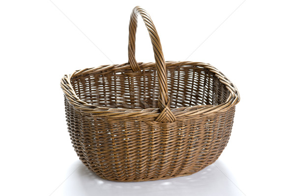 vintage wicker shopping basket Stock photo © leeavison