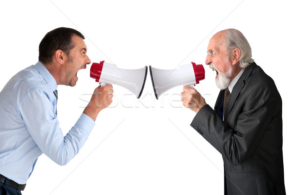 men with megaphones Stock photo © leeavison