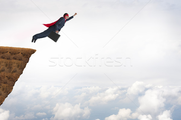 Iş başarı stok fotoğraf süper kahraman işadamı Stok fotoğraf © leeavison