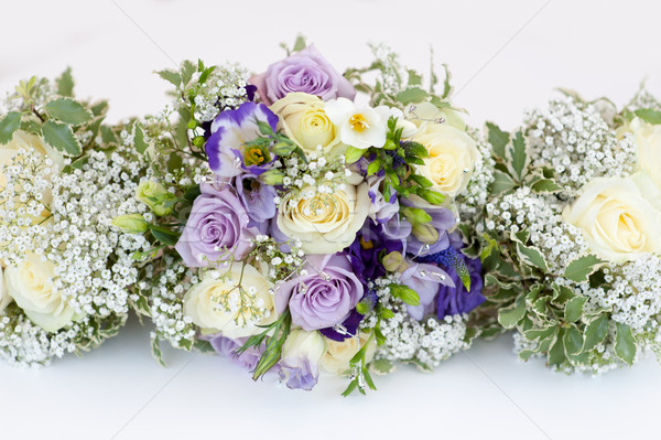 wedding bouquet of bride and bridesmaids Stock photo © leeavison